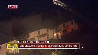 1 killed, 1 injured in St. Pete condo fire - Video