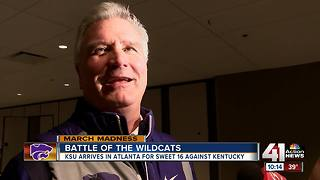 Kansas State arrives in Atlanta for Sweet 16 - Video