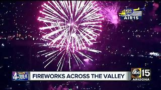 Fireworks show around Valley can cause traffic issues - Video