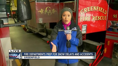 Fire departments prepare for snow delays and accidents