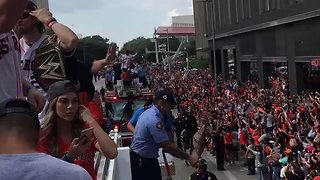 More Than 750,000 People Celebrate at Houston Astros Victory Parade - Video