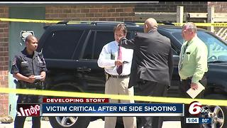 Woman shot in domestic violence incident, IMPD searching for suspect - Video