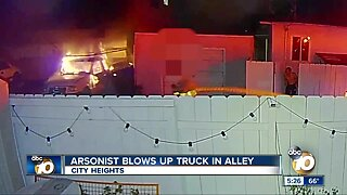 Arsonist blows up parked truck in City Heights alley