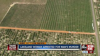 Lakeland woman arrested for murder after body found in Bartow orange grove