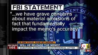 White House deciding whether to release memo