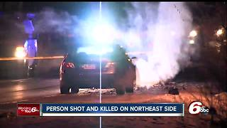 Person found shot to death on sidewalk outside apartment complex on Indianapolis' northeast side - Video