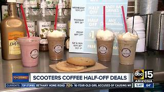 Get half off drinks at Scooter's coffee - Video