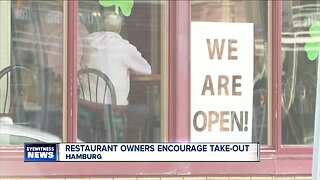 Hamburg restaurant owners urge people to order take out