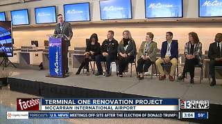 McCarran Airport celebrates renovations - Video