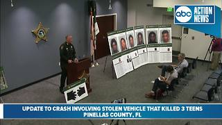Sheriff: Three teens in stolen car die in fiery crash-Presser part 2 - Video