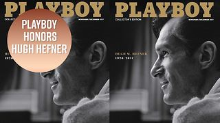 Playboy's first-of-its-kind cover for Hugh Hefner - Video