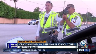 Boynton Beach police crack down on speeders in school zones