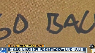 New Americans Museum hit with hateful graffiti - Video
