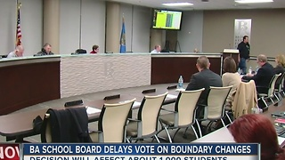 BA School Board Delays Vote On Boundary Changes - Video