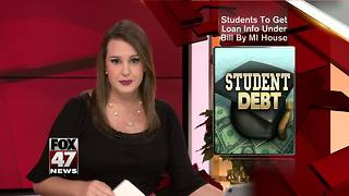 Students would get loan info under bill OK'd in Michigan - Video