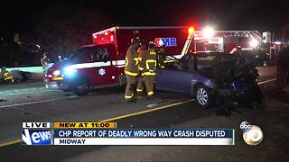 CHP report of deadly wrong-way crash disputed - Video
