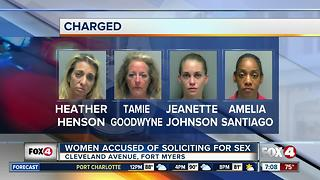 Four women arrested for prostitution in Fort Myers - Video
