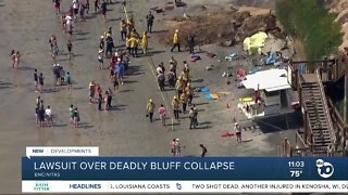 Lawsuit over deadly bluff collapse