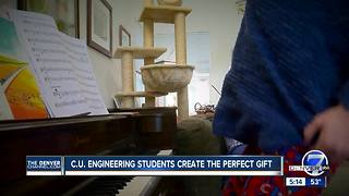 CU Students create perfect gift for child with autism - Video
