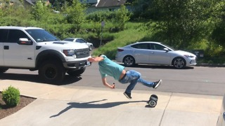 First time on hoverboard fail  - Video