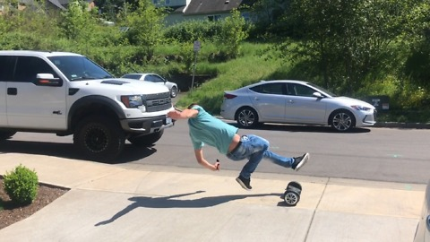 First time on hoverboard fail