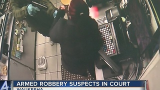 Waukesha PD arrests gas station robbery suspects - Video