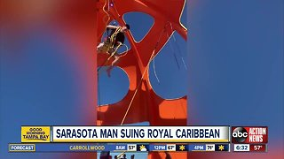 Sarasota man sues Royal Caribbean after falling from bungee ride