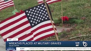Wreaths placed at military graves in Valley Center