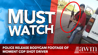 Police release bodycam footage of moment cop shot driver - Video