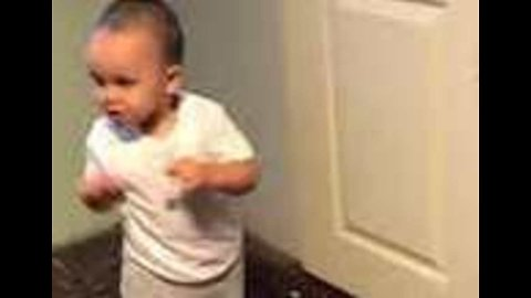 It's Rocky (Boy Baby): One-Year-Old Boxing Sensation Works Out