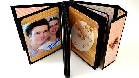 DIY Gift Ideas for him - Scrapbooking Tutorial - SmashBook / Mini Album - Mens Gift Guide