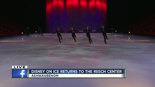 Disney on Ice warming up for the show
