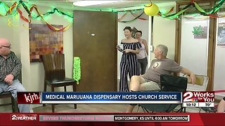 Medical marijuana dispensary hosts church service