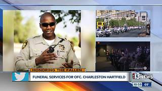 Officer Charleston Hartfield's Funeral Service - Video