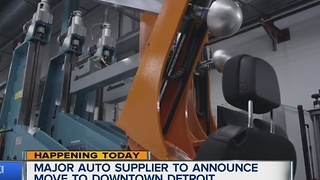 Major auto supplier to announce move to downtown Detroit - Video