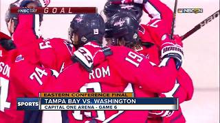 Washington Capitals rough up Tampa Bay Lightning 3-0 to force Game 7 in Eastern Conference Finals - Video