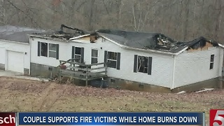 Home Burns Down While Owners Visit Gatlinburg Supporting Fire Victims - Video