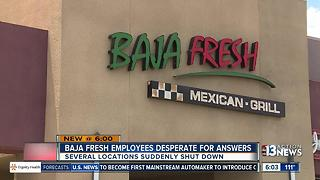 Baja Fresh locations close - Video