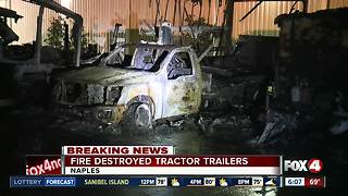 Multiple vehicles damaged in mysterious fire at Naples business