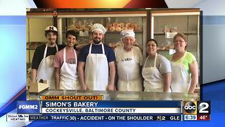 Good morning from Simon's Bakery in Cockeysville - Video