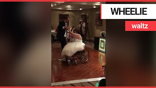 "Wheelchair bound bride performs ""magical"" first dance on wedding day"