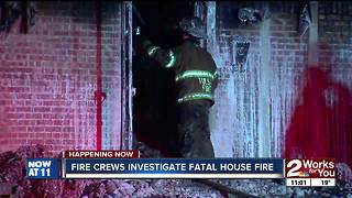 Fire crews investigate fatal house fire - Video
