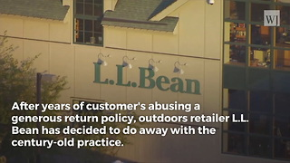 L.L. Bean Officially Puts An End To Famed Lifetime Return Policy After Over 100 Years - Video