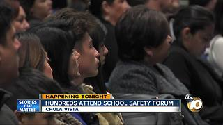 Hundreds attend school safety forum - Video