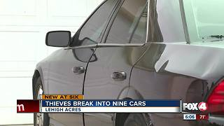 Thieves break into nine cars - Video