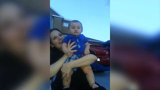 Baby Gets Frightened By Fireworks - Video