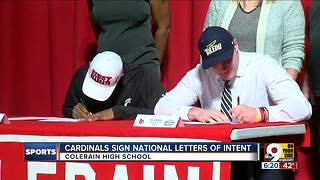 Cardinals sign national letters of intent - Video