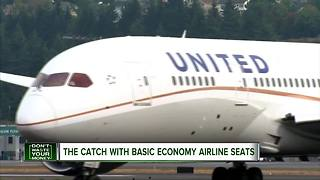 The catch with Basic Economy airline seats - Video