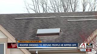 Judge orders roofer to refund customers - Video
