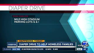 Diaper Drive to help homeless families - Video